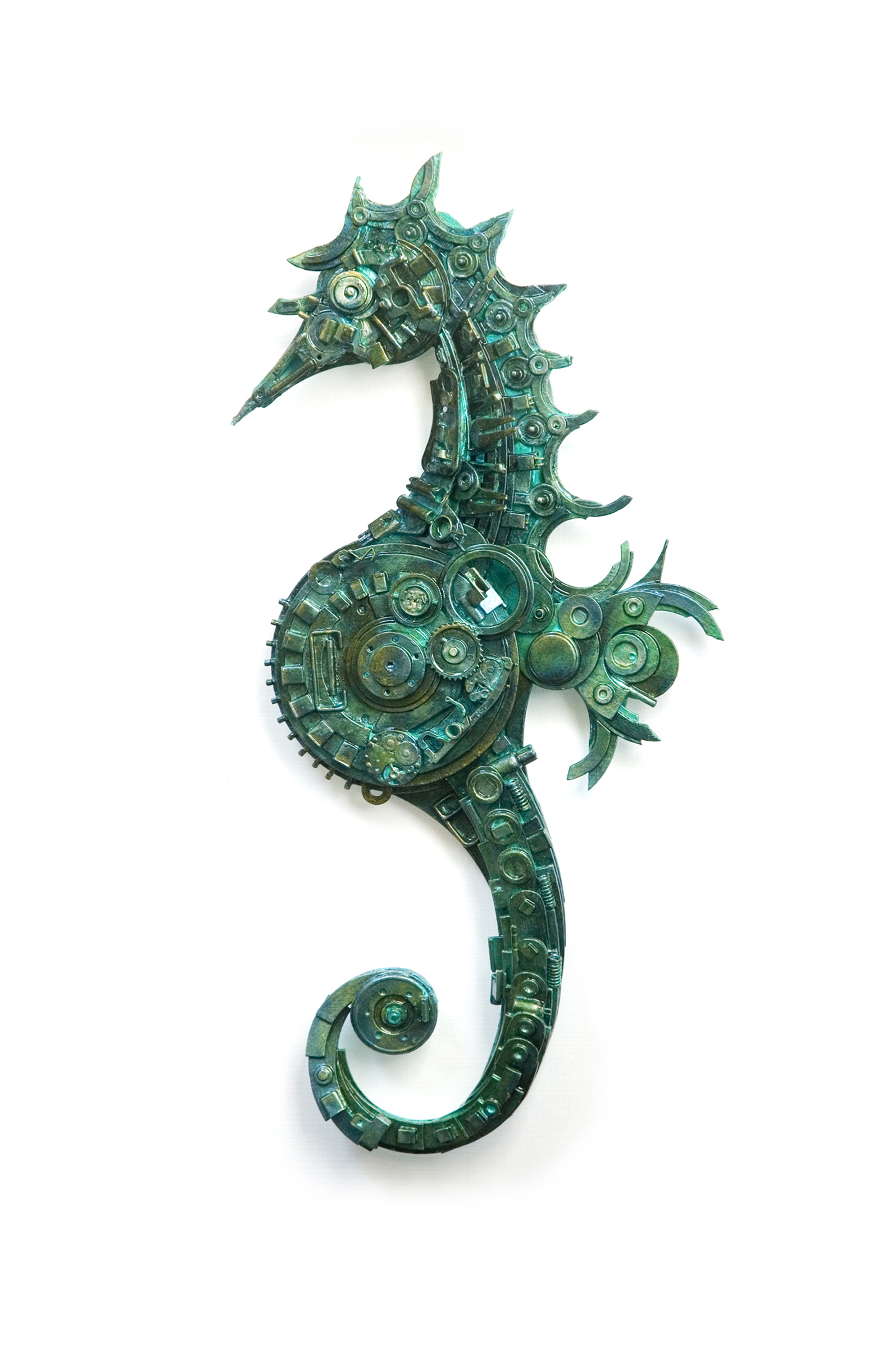 Hippocampus (sea horse) by Haribabu-mixed media